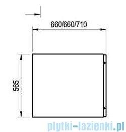 Ravak Chrome Panel boczny A 75cm biały+panelkit CZ74130A00