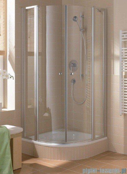 Kermi Cada Kabina ćwierćkolista z drzwiami wahadłowymi, szkło przezroczyste CadaClean 90x90cm CAP53090182PK