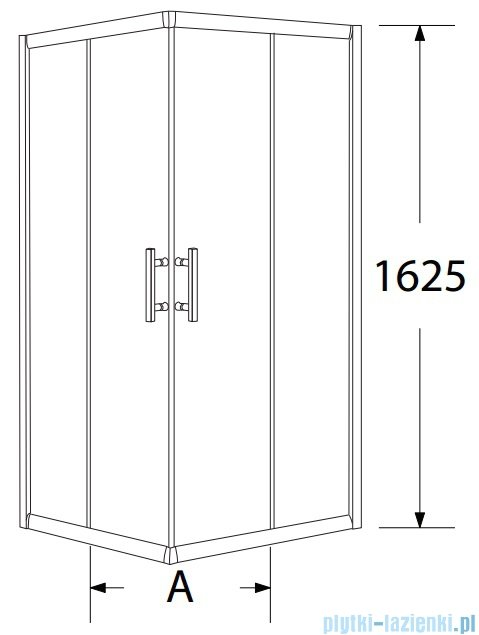 Sea Horse Sigma zestaw kabina natryskowa kwadratowa 80x80x162 chinchila + brodzik z siedziskiem BKZ1/3/QK/
