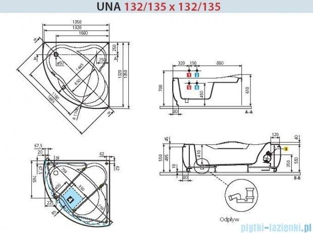 Novellini Wanna UNA HYDRO 135x135 UNA5135135OC-A1K