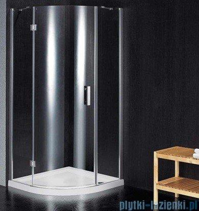 Omnires Manhattan zestaw kabina jednoskrzydłowa z brodzikiem 90x90cm szkło przejrzyste ADF90X/3.064