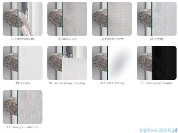 SanSwiss Pur PDT4 Ścianka wolnostojąca 100-160cm profil chrom szkło Krople Lewa PDT4GSM31044