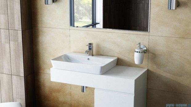 Antado Combi szafka z blatem lewym i umywalką Bali biały/ciemne drewno ALT-140/45GT-WS/dp+ALT-B/2L-1000x450x150-WS+UCS-TC-65