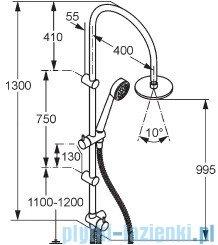 Kludi Zenta Zestaw dual shower system chrom 6167705-00