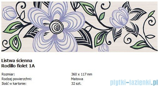 Domino Rodillo fiolet 1A 11,7x36
