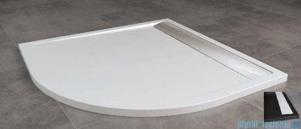 SanSwiss Ila Wir Brodzik półokrągły 80x80cm kolor czarny/biały WIR5508004154