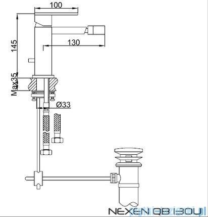Kohlman Nexen 1-otworowa bateria bidetowa QB130U