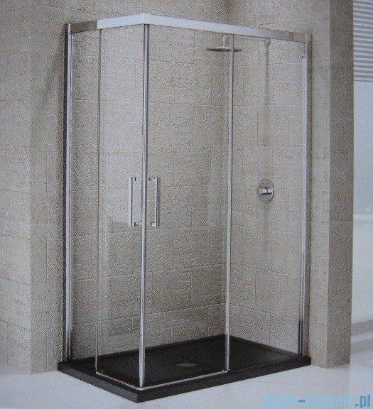 Novellini ElysiumŚcianka prysznicowa KUADRA A 87 prawa szkło przejrzyste profil chrom KUADA87LD-1K