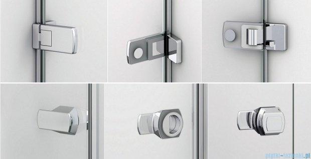 Sanswiss Melia ME31P Drzwi ze ścianką w linii prawe 120x200cm przejrzyste ME31PD1201007