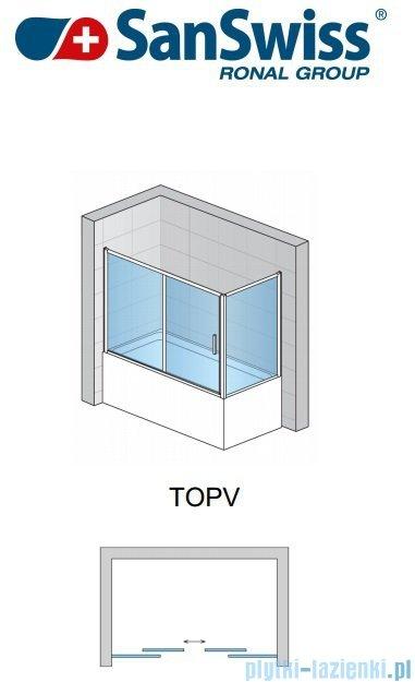 SanSwiss Top-Line TOPV Ścianka boczna 75cm profil biały TOPV07500407