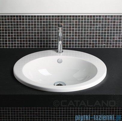Catalano Incasso Sottopiano 57 umywalka nablatowa 57x47 cm biała 1INZE00