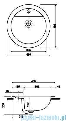 Koło Verone Umywalka 48,5cm wpuszczana w blat 1585000