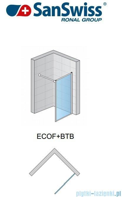 SanSwiss Eco-Line Ścianka boczna Ecof 100cm profil połysk szkło przejrzyste ECOF10005007