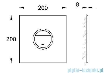 Grohe Ondus® Digitecture Light przycisk uruchamiający kolor: velvet black   38915KS0