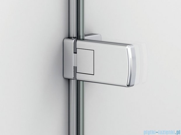 SanSwiss Melia ME1 drzwi prawe wymiary specjalne do 100cm czarne ME1DSM11055