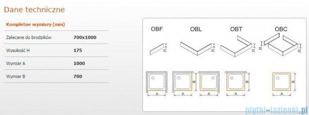 Sanplast Obudowa do brodzika OBL 70x100x17,5 cm 625-403-1130-01-000