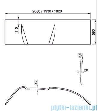 Ravak Panel do wanny Asymmetric 170 P CZ49100000