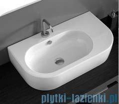 Kerasan Flo Umywalka asymetryczna stawiana lub wieszana 75x42 3143