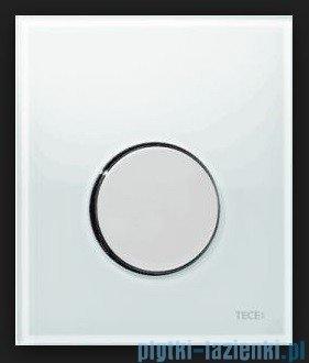 Tece Przycisk spłukujący ze szkła do pisuaru Teceloop szkło białe, przycisk chrom połysk 9.242.660