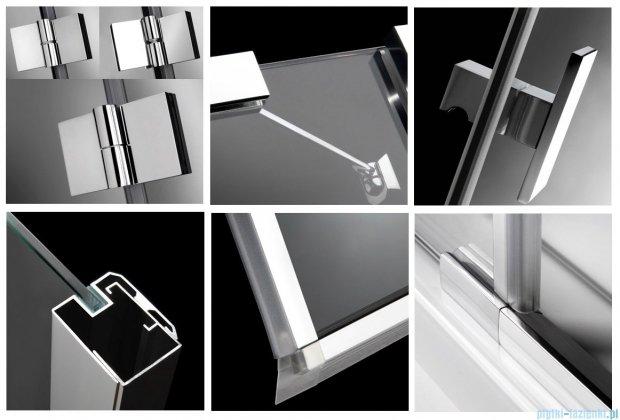 Radaway Kabina prysznicowa Essenza PDD E 90x80 szkło brązowe + brodzik Siros E Compact prawy + syfon 32532-01-08N
