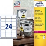 Etykiety Heavy Duty 63,5 x 33,9 mm [100 ark.] Avery