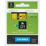 Dymo taśma do drukarek etykiet, D1 40918  czarny/żółty  7m/9 mm
