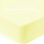 Prześcieradło frotte z gumką - żółte pastelowe