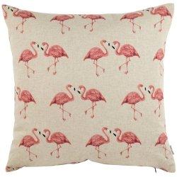 Poduszka French Home - Marynarska Flamingi - beżowa