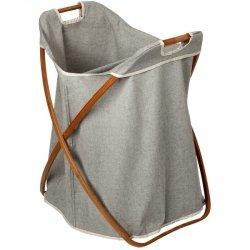 Kosz na pranie Möve - Bambus + Canvas - składany dwukomorowy