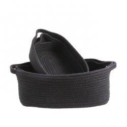 Koszyki łazienkowe czarne - komplet 4 szt.