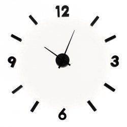 Zegar przyklejany na ścianę - EVA - czarny