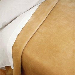 Narzuta Koc Piel - Plain 160x240 cm - beżowa