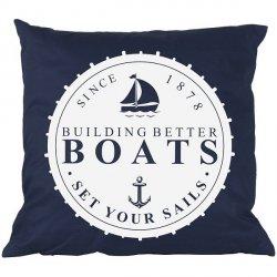 Poduszka French Home - Marynarska Boats - granatowa