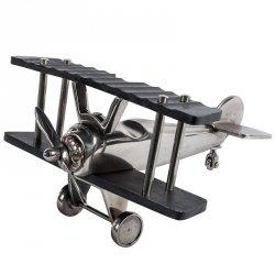 Dekoracja Belldeco - Samolot - srebrny