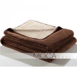 Koc Moca Design Doubleface - beżowy + brązowy