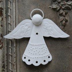 Zawieszka Chic Antique - Anioł - biały