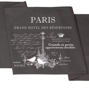 Bieżnik French Home - Paris M - szary