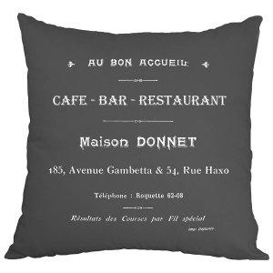 Poduszka French Home - Cafe Bar - szara