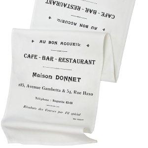 Bieżnik French Home - Cafe Bar L - biały