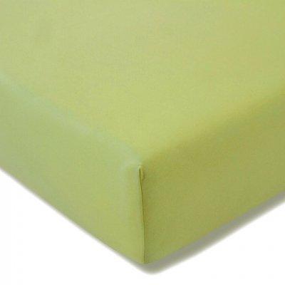 Prześcieradło ESTELLA Feinjersey z gumką - zielone oliwkowe
