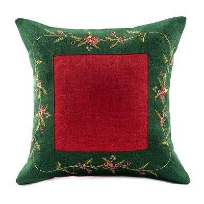 Poszewka świąteczna - CHRISTMAS - czerwono-zielona
