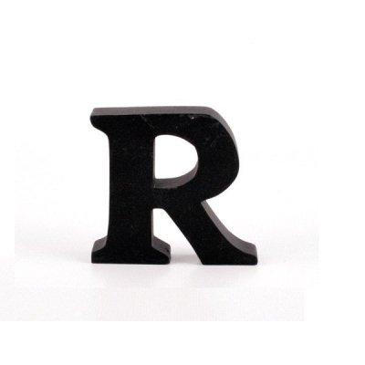 Litera ozdobna mała - R - czarna