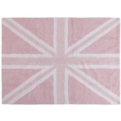 Dywan do prania w pralce - Lorena Canals UK FLAG - różowy
