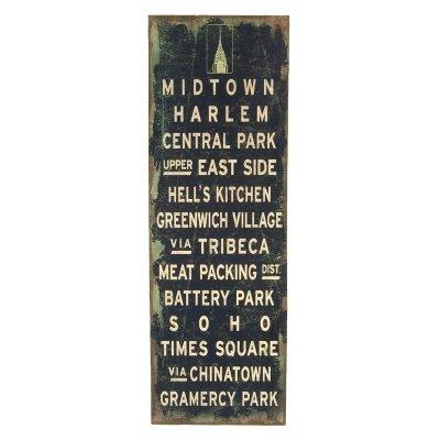 Obraz typograficzny CITY - NEW YORK - MIDTOWN HARLEM
