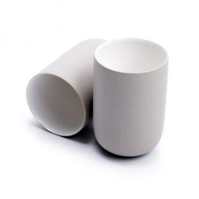 Kubek ceramiczny - Cylinder - szary