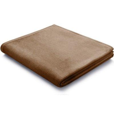 Koc Biederlack 100% bawełna - Pure Cotton - brązowy