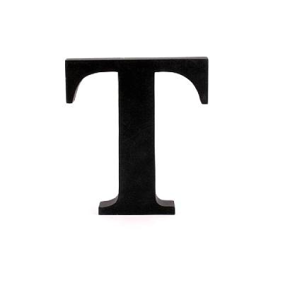 Litera ozdobna duża - T - czarna