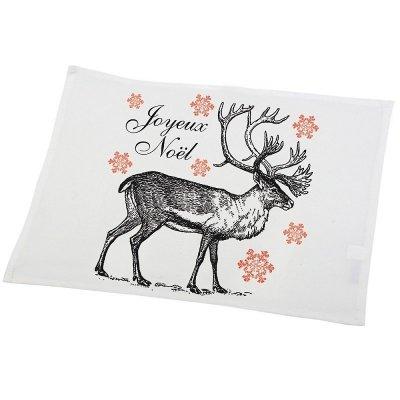 Serweta / podkładka świąteczna French Home - Renifer - biała