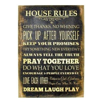 Obraz typograficzny - HOUSE RULES III