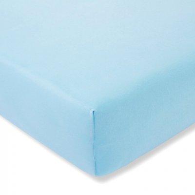 Prześcieradło ESTELLA Zwirnjersey z gumką - niebieskie pastelowe